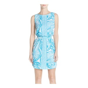 Lilly Pulitzer short dress light blue and white on Tradesy