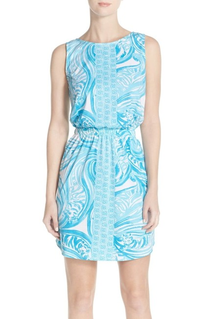 Lilly Pulitzer short dress light blue and white on Tradesy Image 1