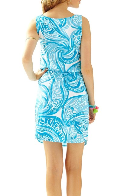 Lilly Pulitzer short dress light blue and white on Tradesy Image 2