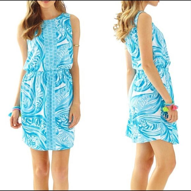 Lilly Pulitzer short dress light blue and white on Tradesy Image 3