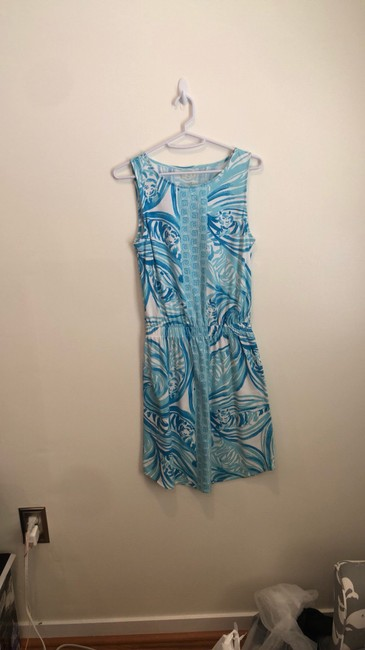 Lilly Pulitzer short dress light blue and white on Tradesy Image 9