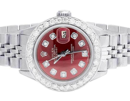 Rolex Datejust 26MM Oyster Jubilee Red Dial Diamond 2.0 Ct Image 1