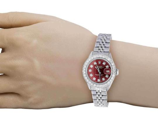 Rolex Datejust 26MM Oyster Jubilee Red Dial Diamond 2.0 Ct Image 7