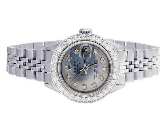 Preload https://img-static.tradesy.com/item/25795482/rolex-ladies-stainless-steel-datejust-26mm-jubilee-blue-mop-dial-diamond-25-ct-watch-0-0-540-540.jpg
