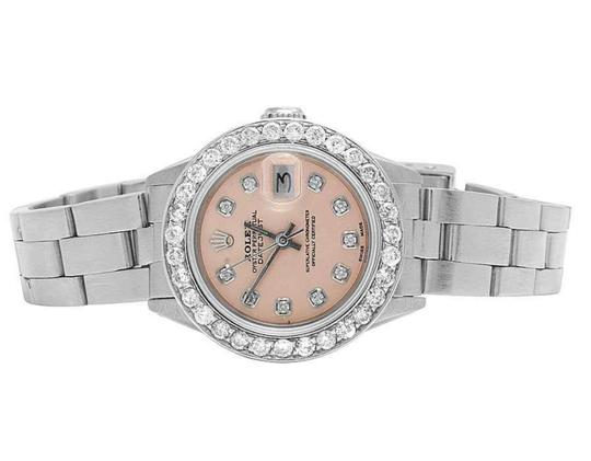 Preload https://img-static.tradesy.com/item/25795508/rolex-ladies-stainless-steel-datejust-26mm-oyster-pink-dial-diamond-25-ct-watch-0-0-540-540.jpg