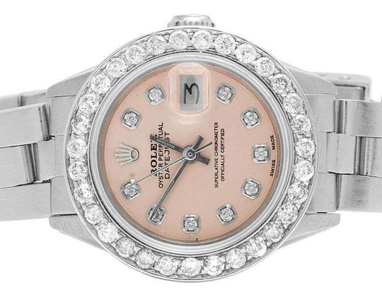 Rolex Datejust 26MM Oyster Pink Dial Diamond 2.5 Ct Image 1