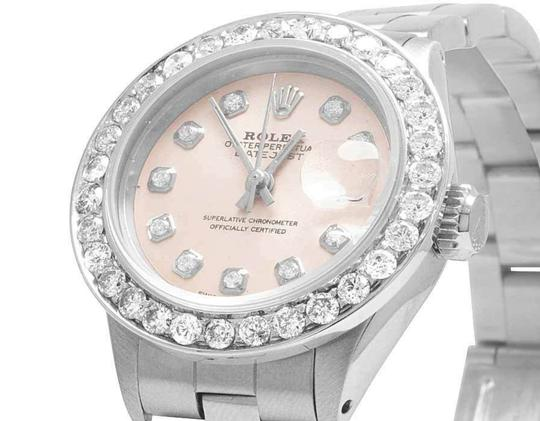 Rolex Datejust 26MM Oyster Pink Dial Diamond 2.5 Ct Image 2