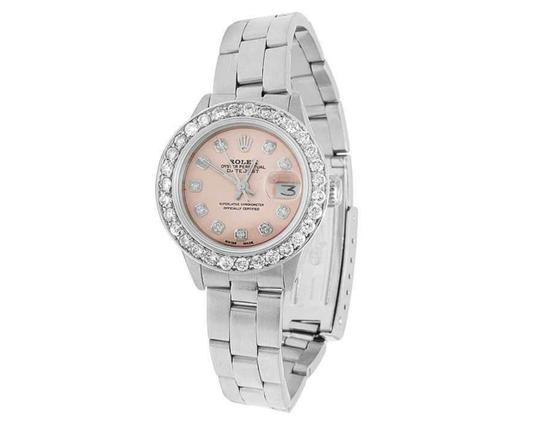 Rolex Datejust 26MM Oyster Pink Dial Diamond 2.5 Ct Image 5