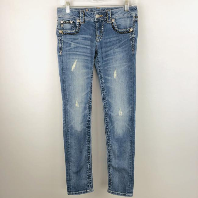 Miss Me Cuffed Skinny Jeans-Light Wash Image 1