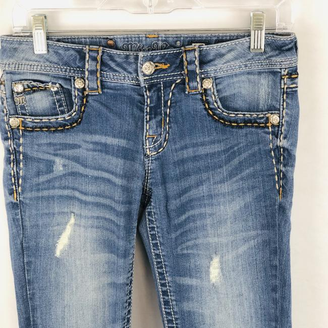 Miss Me Cuffed Skinny Jeans-Light Wash Image 2