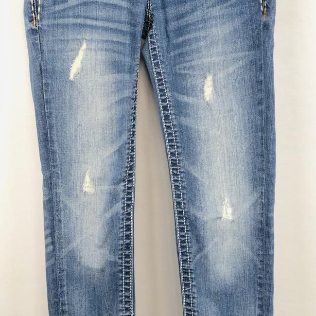 Miss Me Cuffed Skinny Jeans-Light Wash Image 3
