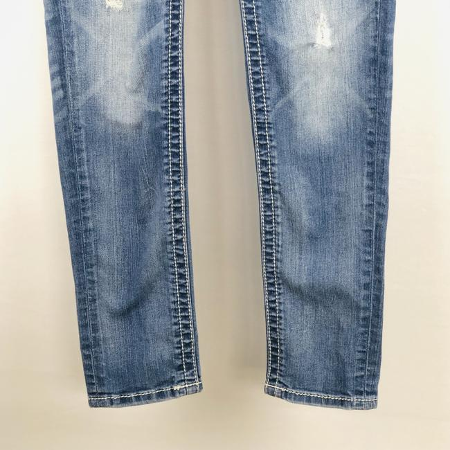 Miss Me Cuffed Skinny Jeans-Light Wash Image 4
