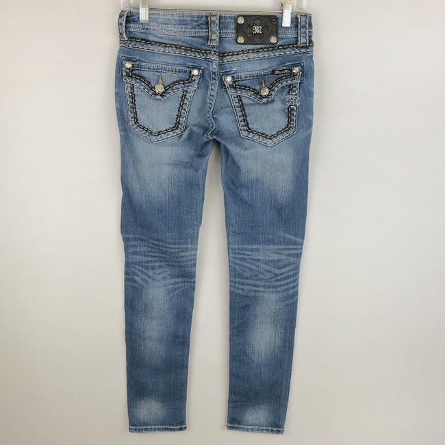 Miss Me Cuffed Skinny Jeans-Light Wash Image 5