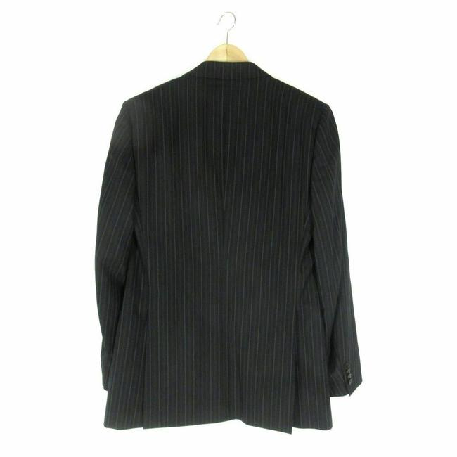 Dolce&Gabbana 52 IT / 42 US - Dolce & Gabbana Mens Black w/ Gray Pinstripes Wool Sui Image 1