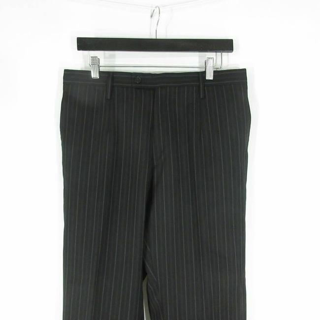 Dolce&Gabbana 52 IT / 42 US - Dolce & Gabbana Mens Black w/ Gray Pinstripes Wool Sui Image 2