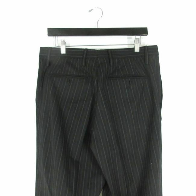Dolce&Gabbana 52 IT / 42 US - Dolce & Gabbana Mens Black w/ Gray Pinstripes Wool Sui Image 3