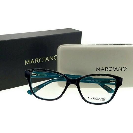 Guess By Marciano GM0280-092-51 Cat Eye Women's Blue Frame Clear Lens Eyeglasses Image 4