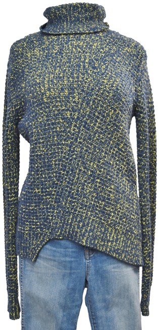Preload https://img-static.tradesy.com/item/25795566/marc-by-marc-jacobs-turtleneck-size-small-blue-and-yellow-sweater-0-1-650-650.jpg