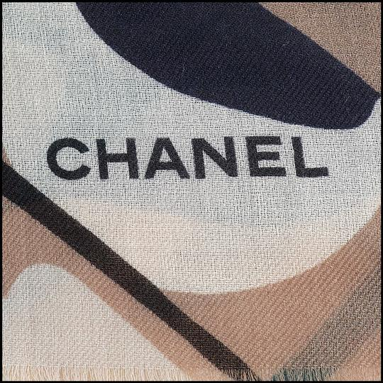 Chanel RDC10166- Chanel Fall '18 Brown/Pink/Black Graphic Cashmere Shawl Image 3