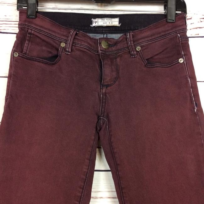 Free People Distressed Factory Faded Ankle Length Color Denim Skinny Jeans-Distressed Image 1