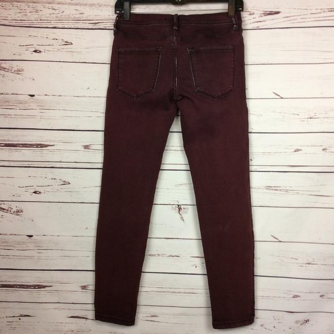 Free People Distressed Factory Faded Ankle Length Color Denim Skinny Jeans-Distressed Image 2