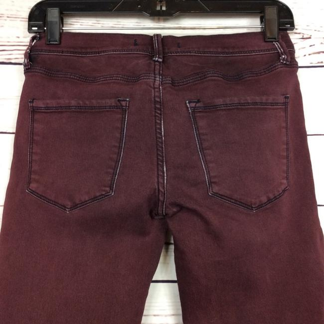 Free People Distressed Factory Faded Ankle Length Color Denim Skinny Jeans-Distressed Image 3