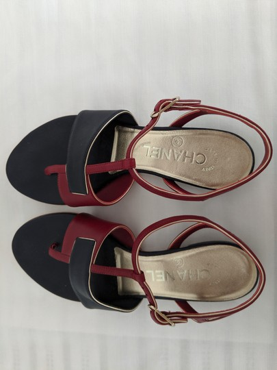 Chanel navy and red Sandals Image 1