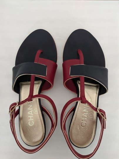 Chanel navy and red Sandals Image 2