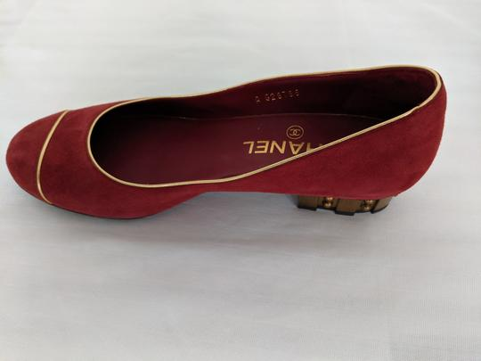 Chanel soft red Flats Image 4