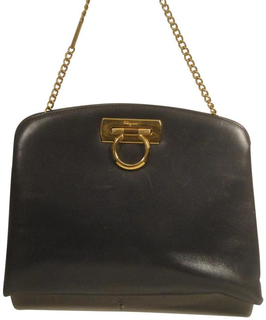 Item - Shoulder Bag Chain Gray Leather Clutch