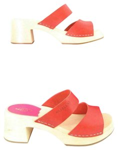 swedish hasbeens High Heel Red Mules