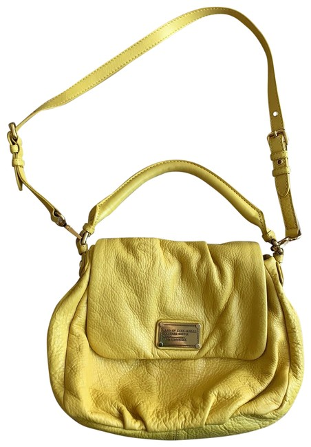 Item - With Top Handle and Cross Body Yellow Leather Hobo Bag