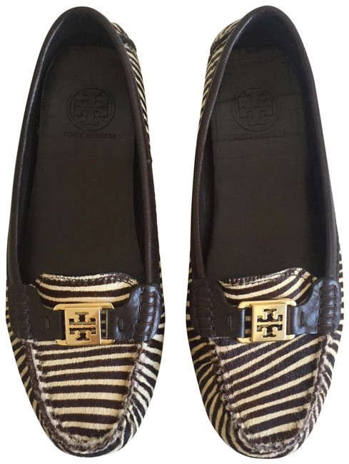 Tory Burch Brown Pony Hair Loafers Wedges Size US 8.5 Regular (M, B) Tory Burch Brown Pony Hair Loafers Wedges Size US 8.5 Regular (M, B) Image 1