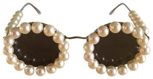 Chanel Iconic Vintage Chanel Pearl Round Sunglasses 1994 - Rare - Collector