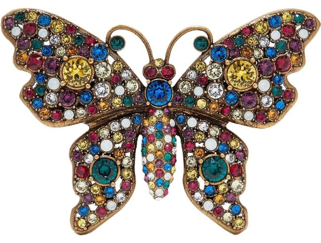 Item - Butterfly Gold-tone Crystal Brooch