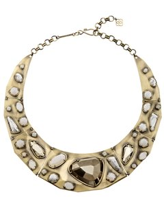Kendra Scott KENDRA SCOTT Mira Antique Gold Plated Necklace in Pyrite Mosaic