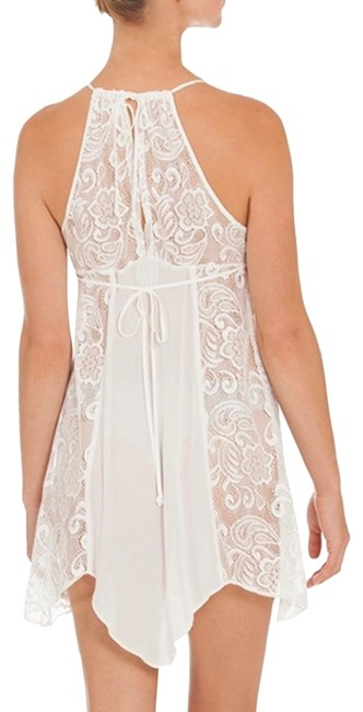 Item - White Babydoll Can Be Top Style Fch010 Mid-length Night Out Dress Size 6 (S)
