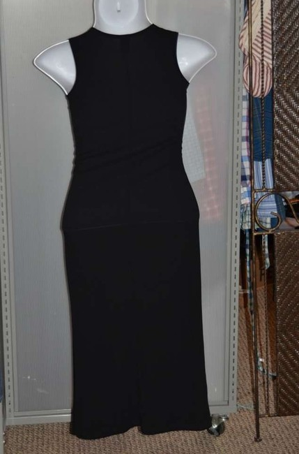 Black Maxi Dress by Gap Sleeveless V-neck Long Fully Stretchy Fabric Cocktail Work Or Office