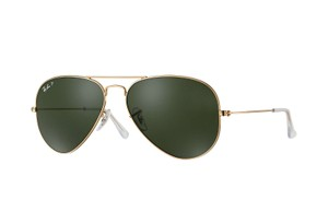 Ray-Ban Ray-Ban RB3025 001/58 Gold Aviator Classic Polarized Sunglasses