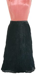 Tara Jarmon Structured Rose Gold Skirt Black Shimmer