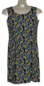Casual Corner short dress Casual Corner Cute Colors Of Navy Pink Yellow And Blue Florals Fully Lined Zipper In Back Sleeveless on Tradesy
