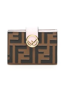 Fendi new FF Fendi accordion card holder in RED