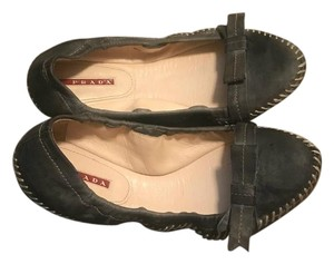 Prada Loafers Gray Flats