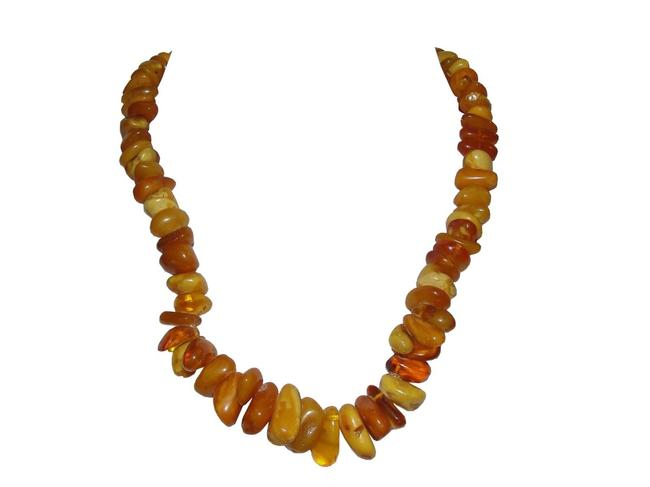 Item - Amber Nugget Large Baltic and Cognac Bead Necklace