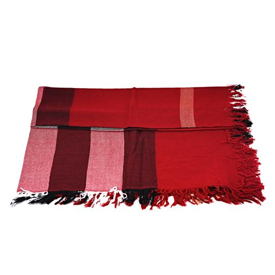 Burberry Burberry Color Check Wool Square Scarf Image 4