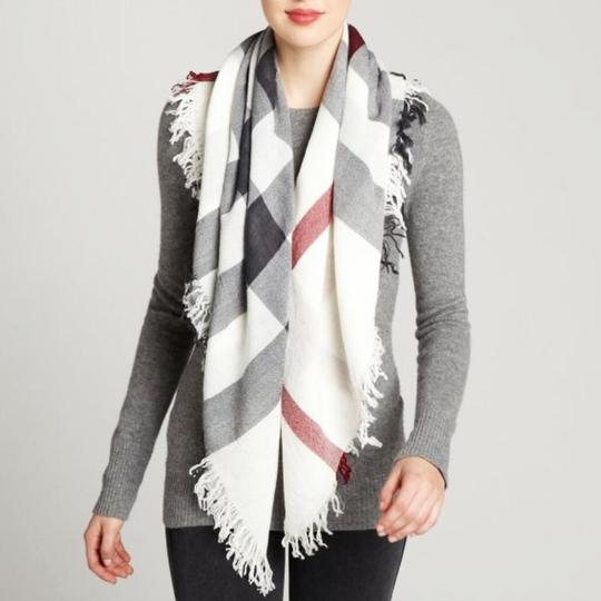 Burberry Burberry Color Check Wool Square Scarf Image 1