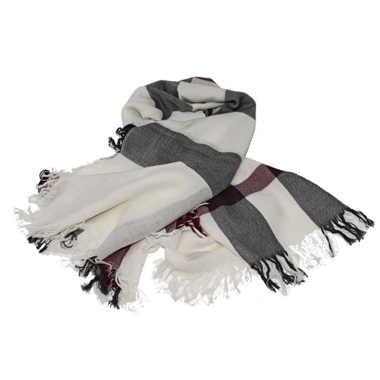 Burberry Burberry Color Check Wool Square Scarf Image 5