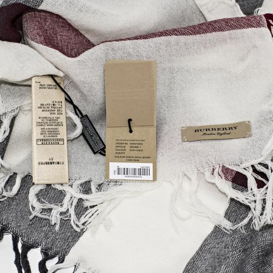 Burberry Burberry Color Check Wool Square Scarf Image 6