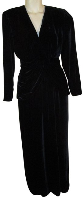 Item - Black Collection Iii Vintage Velvet Gown Long Formal Dress Size 2 (XS)