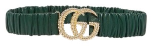Gucci GG logo ruched leather belt size 80